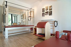 Pilates studio with equipment