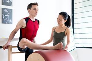 Pilates lesson